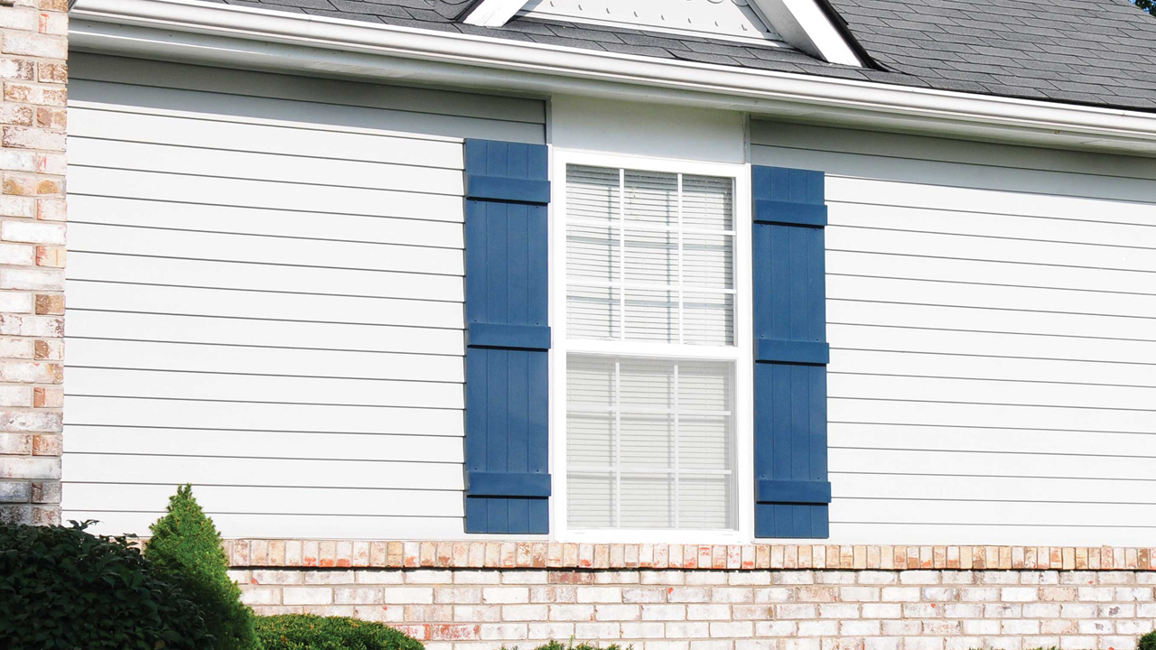 Board-N-Batten Shutters | Classic Blue 036